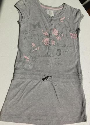 H&m. logg. трикотажное, спортивное платье 146-152 размер.
