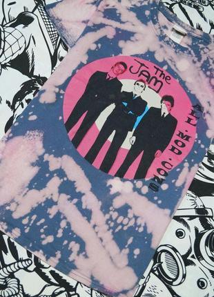 Кастомная мерч футболка с принтом рок-группы the jam