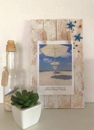 Рамочка для фото из сосновых планок summer