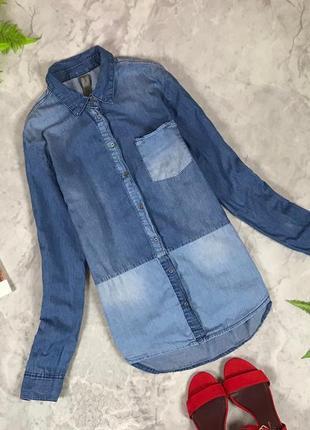 Джинсовая рубашка с накладным карманом  bl1932034 denim co