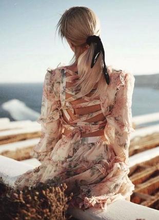 Two twin style надзвичайна шифонова кольорова сукня на зав'язках1 фото