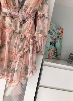 Two twin style надзвичайна шифонова кольорова сукня на зав'язках3 фото