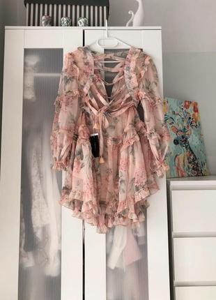 Two twin style надзвичайна шифонова кольорова сукня на зав'язках7 фото