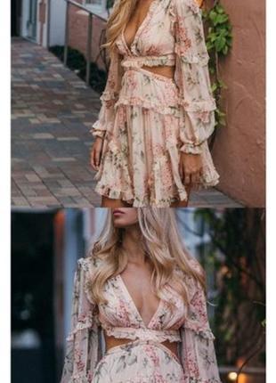 Two twin style надзвичайна шифонова кольорова сукня на зав'язках6 фото