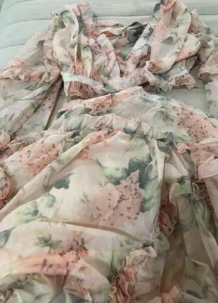 Two twin style надзвичайна шифонова кольорова сукня на зав'язках8 фото