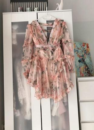 Two twin style надзвичайна шифонова кольорова сукня на зав'язках9 фото