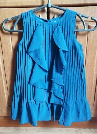 Блузка нарядная  с воланами на 3-4 годика