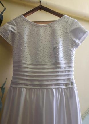 Свадебное платье 48 размера, можно беременным с небольшим животиком