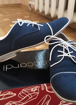 Туфли замшевые натуральные 38
