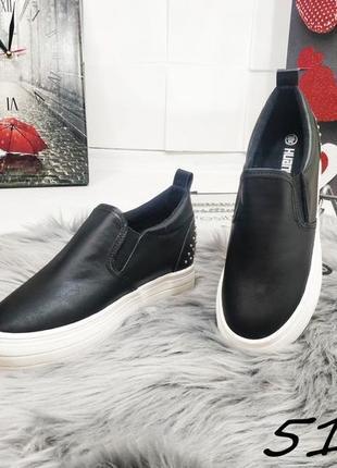 Слипоны на скрытой танкетке эко-кожа сникерсы кеды эспадрильи ботинки кроссовки