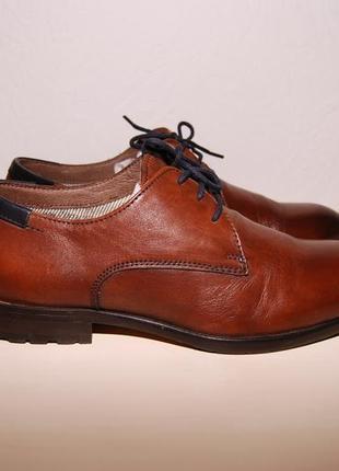 Стильные кожаные мужские туфли braska размер 39-40