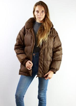 Пуховик куртка  fila светло бежевый