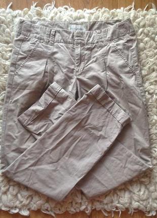 Бежевые брюки прямые esprit