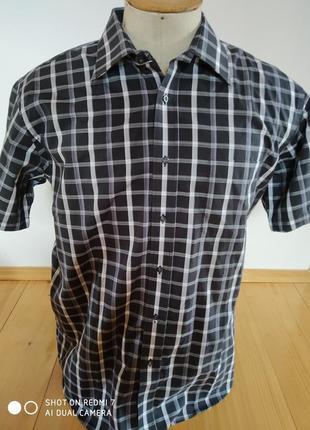 Мужские рубашка клетка розмір-42-50