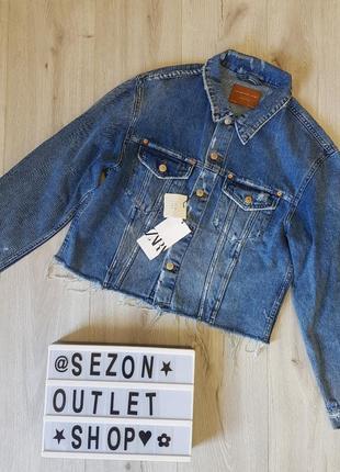 Джинсовая куртка zara7 фото