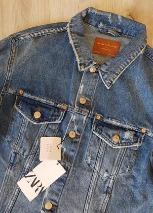 Джинсовая куртка zara8 фото