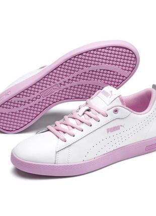 Новые кожаные белые городские кроссовки с мягкой стелькой foam оригинал puma 37/4