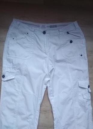 Белоснежные брюки капри