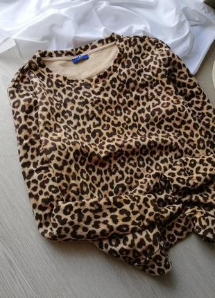 Трендовый свитер оверсайз в леопардовый принт tom tailor
