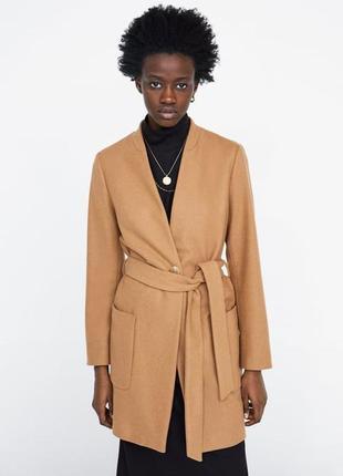 Zara пальто пиджак жакет шерсть , m, l