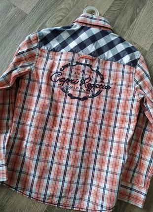 Рубашка стильная в клетку