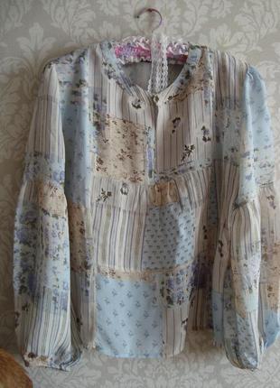 Блузка в стиле пэчворк итальянского бренда biaggini