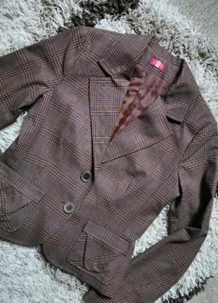 Шикарный пиджак жакет блейзер в клетку spring fashion