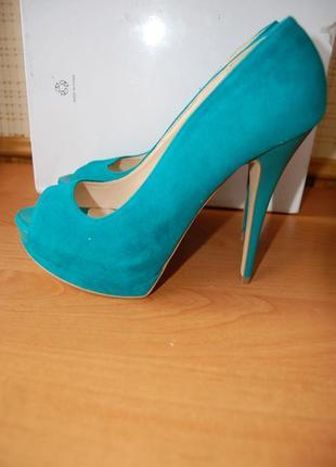 Туфли ronzo, голубые, 38