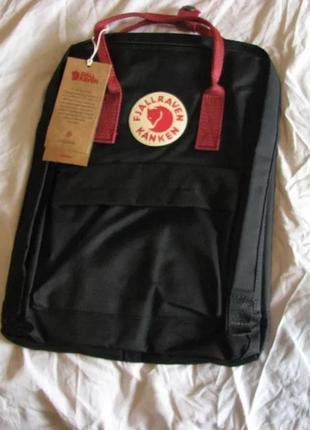Рюкзак fjallraven kanken канкен портфель сумка classic 16л черны бордо