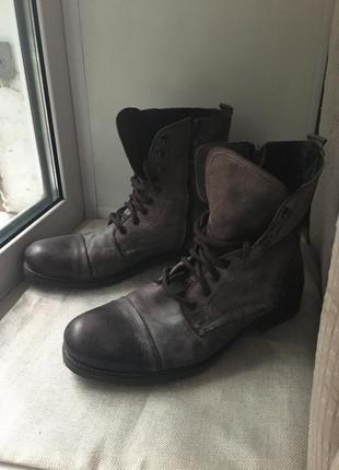 Ботинки натуральная кожа мужские берцы