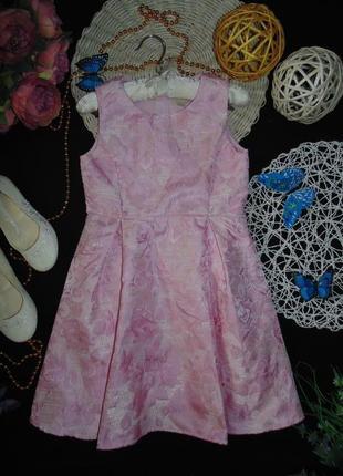 Нарядное атласное платье yumi girl