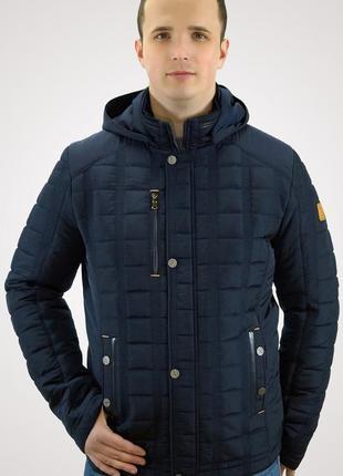Демисезонная темно-синяя мужская куртка (48-58р)