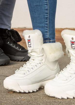 Зимние сапоги ботинки кроссовки fila disraptor оригинал , размеры 38,39,40