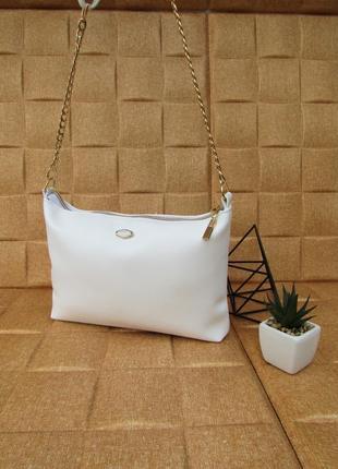 Белая сумочка handmade