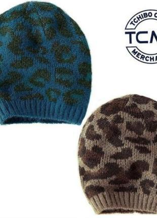 Комплект / набор вязаных , теплых шапок 2 шт. германия tcm tchibo. оригинал!
