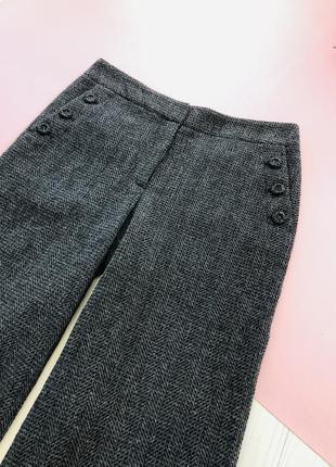 Актуальные брюки штаны клёш шерсть nicole farhi