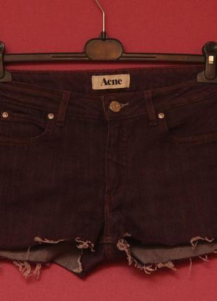 Acne studios 28 cropped denim shorts шорты из денима