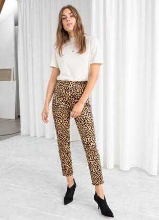 Распродажа! леопардовые треггинсы слимы италия размер 34 16