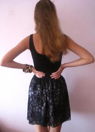 Платье вечернее  талию подчеркивает резинка  ажурное мини выпуск встреча черное сарафан