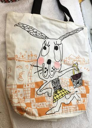Тряпочная сумка мешок пляжная сумочка еко  веселая модная интересная тренд мода