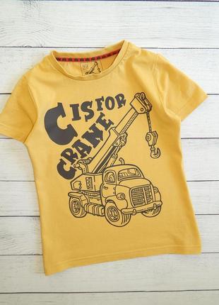 Хлопковая футболка от tu, для мальчика 4-5 лет, 104-110 рост.