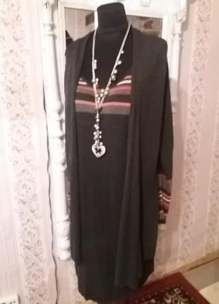 Трикотажное платье-трансформер trend р.52-54..много вещей больших размеров