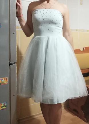 Платье с юбкой из фатина mohito ,p. м , l