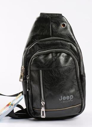"""Качественная мужская сумка, мини рюкзак """"jeep"""""""