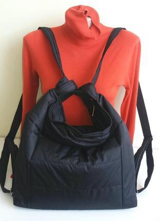 Шоппер-рюкзак сумка на плечо и через плечо демисезонная удобная вместительная