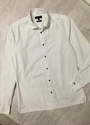 Белая рубашка на кнопках river island размер s
