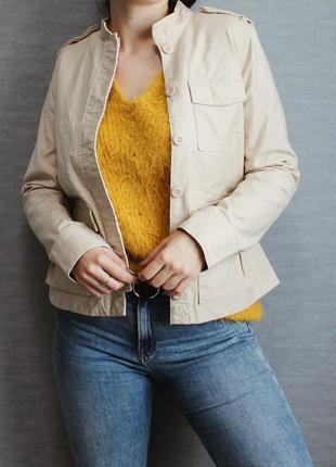 Стильная бежевая ветровка/куртка на пуговицах/жакет от h&m