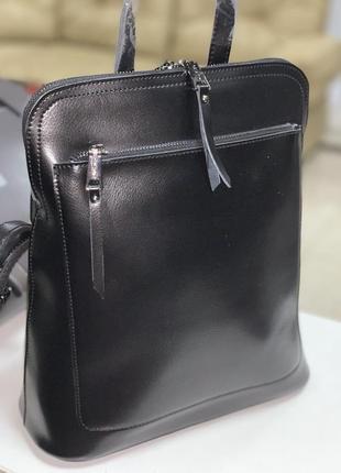Стильный кожаный рюкзак!!