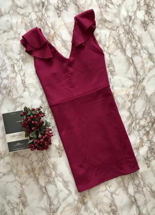 Платтячко яскраво малинового кольору на короткий рукав