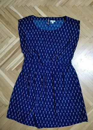 Платье синее old navy